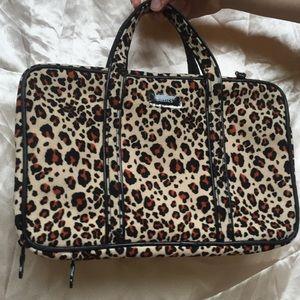 Handbags - Basics Vintage Leopard Print Makeup Bag Case